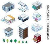 various building   solid figure | Shutterstock .eps vector #178922909