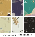 japanese background with icon... | Shutterstock .eps vector #1789235216