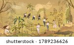 traditional chinese paintings.... | Shutterstock .eps vector #1789236626