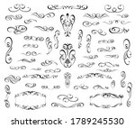 set of floral decorative... | Shutterstock .eps vector #1789245530