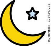 moon vector flat color icon  | Shutterstock .eps vector #1789247276