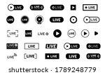live stream icon set. black... | Shutterstock .eps vector #1789248779