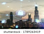 double exposure of virtual... | Shutterstock . vector #1789263419