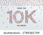 thank you  10k or ten thousand...   Shutterstock .eps vector #1789281749