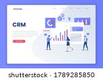 crm solution illustration...