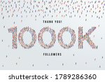 thank you 1000k or one thousand ...   Shutterstock .eps vector #1789286360