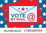 vote by mail. stay safe. 2020... | Shutterstock .eps vector #1789289549