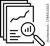 black linear document like... | Shutterstock .eps vector #1789311023