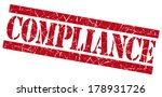 compliance grunge red stamp | Shutterstock . vector #178931726