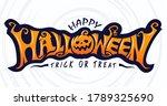 happy halloween text banner ... | Shutterstock .eps vector #1789325690