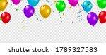 set color balloons  confetti...   Shutterstock .eps vector #1789327583