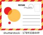 Travel Postcard Vector In Air...