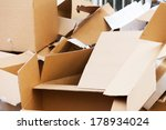 discarded cardboard boxes in... | Shutterstock . vector #178934024
