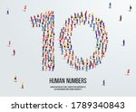 large group of people form to...   Shutterstock .eps vector #1789340843