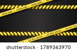 police tape  crime danger line. ... | Shutterstock .eps vector #1789363970