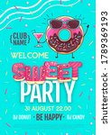 disco party poster with...   Shutterstock .eps vector #1789369193
