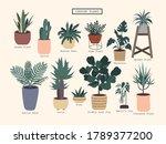 set of plants.flat style vector ... | Shutterstock .eps vector #1789377200