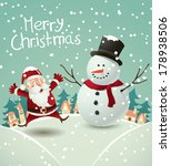 santa claus and snowman  | Shutterstock . vector #178938506