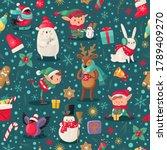 Christmas Characters Seamless...