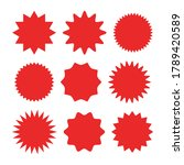 starburst sticker set  ...   Shutterstock .eps vector #1789420589
