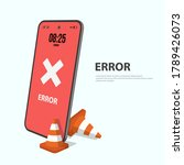 notice on the smart phone... | Shutterstock .eps vector #1789426073