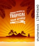 summer vacation on tropical... | Shutterstock .eps vector #178945640