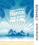 summer vacation on tropical... | Shutterstock .eps vector #178945658