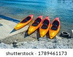 Kayaks On The Beach   Summer O...