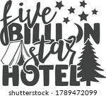 five billion star hotel  ...   Shutterstock .eps vector #1789472099