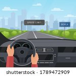 driving car safety concept... | Shutterstock .eps vector #1789472909