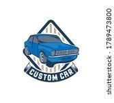 car repair logo template. car... | Shutterstock .eps vector #1789473800