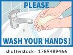wash your hands healthcare...   Shutterstock .eps vector #1789489466