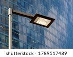 Led Street Lamp Post Glowing On ...