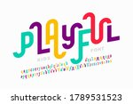 playful style font design ... | Shutterstock .eps vector #1789531523