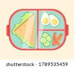 vector red plastic lunch box...   Shutterstock .eps vector #1789535459