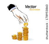 money. vector illustration. | Shutterstock .eps vector #178953860