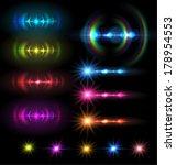 lens flare set . vector... | Shutterstock .eps vector #178954553