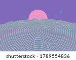 futuristic violet night sky...   Shutterstock .eps vector #1789554836
