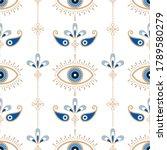 evil eye vector seamless... | Shutterstock .eps vector #1789580279