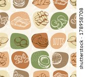 Nuts vector pattern