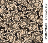 luxury peony floral lace... | Shutterstock .eps vector #1789602119