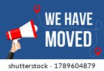 we have moved banner. moving... | Shutterstock .eps vector #1789604879