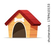 dog house vector isolated... | Shutterstock .eps vector #1789610153