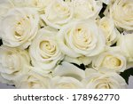 Stock photo  bouquet white rose closeup background of flowers buds 178962770