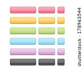 set of colored web buttons | Shutterstock .eps vector #178963544
