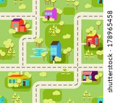 town concept background. flat... | Shutterstock .eps vector #178965458