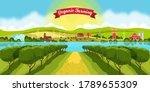 Rural European Landscape With...