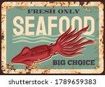squid animal rusty plate.... | Shutterstock .eps vector #1789659383