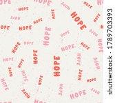 hope. vector seamless pattern... | Shutterstock .eps vector #1789703393