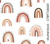 vector baby seamless pattern.... | Shutterstock .eps vector #1789718660